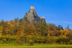 Trosky Castle in Bohemia paradise - Czech republic Stock Photo