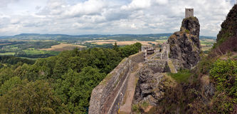 Trosky Castle in Czech Republic. Panoramic view at Trosky Castle in Cesky Raj, Czech Republic royalty free stock images