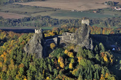 Trosky castle - fly photo Royalty Free Stock Image