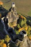 Trosky castle - fly photo Stock Photos