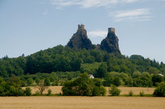 Trosky castle Royalty Free Stock Images