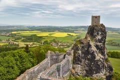Trosky castle ruin stock photo