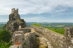 Trosky castle ruin Royalty Free Stock Image