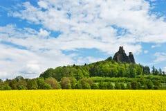 Trosky-Schloss, böhmische Paradiesregion, Tschechische Republik, Europa Lizenzfreies Stockbild