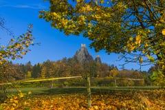 Troskykasteel in het paradijs van Bohemen - Tsjechische republiek royalty-vrije stock foto