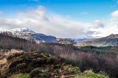 Trossachs苏格兰 库存照片