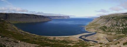 Trostansfjordur em Westfjords, Islândia Foto de Stock Royalty Free