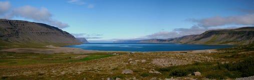 Trostansfjordur em Westfjords, Islândia Imagem de Stock Royalty Free