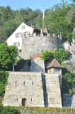 Trostburg. The Trostburg is a privately owned castle located in the village of Teufenthal in the canton of Aargau, Switzerland is surrounded by a vineyard and Stock Photo