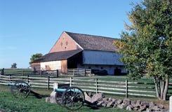 The Trostle farm barn on the Gettysburg battlefield. Stock Photography