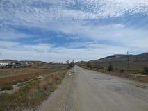 Trostlose Straße in Krim Lizenzfreie Stockbilder