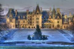 Troszkę śnieg Przy Biltmore i Blue Ridge Mountains Obraz Royalty Free