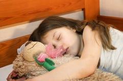 Troszkę śpi dziewczyna Fotografia Royalty Free