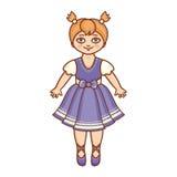 Troszkę balerina w pięknej sukni Zdjęcie Stock