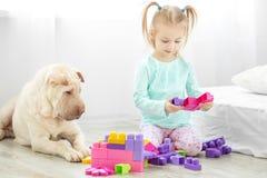 Troszkę bawić się z rozwija zabawkami w pokoju dziecko _ zdjęcie stock