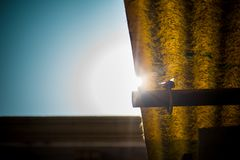 Troszkę Ray światło słoneczne zdjęcie stock