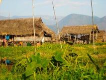Troszkę wioska outside od Burma obraz royalty free