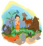Troszkę wygłasza kazanie prawdę zwierzęta w t Buddha Obraz Royalty Free