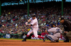 Trot Nixon, Game 5, 2003 ALCS. Trot Nixon at bat against Yankees pitcher David Wells during game 5 of the 2003 ALCS Stock Photos