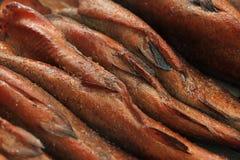 Trota affumicata calda del pesce immagine stock libera da diritti