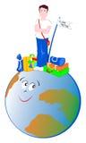 Trotador do globo Foto de Stock