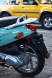 'trotinette' azul Imagens de Stock