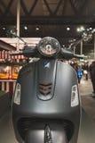 'trotinette' do Vespa na exposição em EICMA 2014 em Milão, Itália Foto de Stock Royalty Free