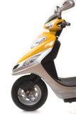 'trotinette' elétrico amarelo fotografia de stock royalty free