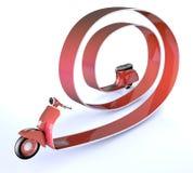'trotinette' por muito tempo, a velocidade do conceito no tráfego Imagem de Stock Royalty Free