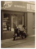 'trotinette' retro Fotografia de Stock
