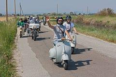 'trotinette's e motocicletas velhos Foto de Stock