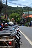 'trotinette's nas ruas de cidades asiáticas Foto de Stock Royalty Free
