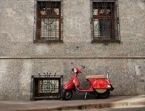 'trotinette' vermelho Foto de Stock Royalty Free