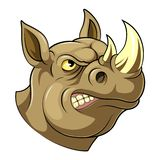 Trots rinoceroshoofd royalty-vrije illustratie