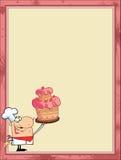 Trotse cakechef-kok in de hoek Royalty-vrije Stock Foto's