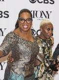 Trotse Producent Oprah Winfrey Beams als Cynthia Erivo Win Tony royalty-vrije stock afbeelding