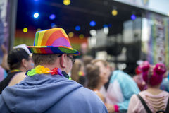 Trotslgbt Festival en overleg stock afbeelding