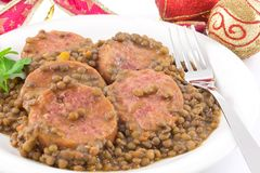 Trotter with lentils Royalty Free Stock Images