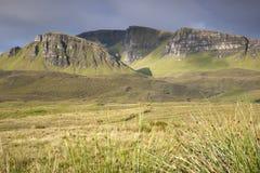 Trotternish; Isle av Skye arkivfoto
