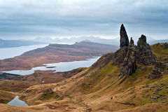 trotternish skye Шотландии зиги острова Стоковые Фотографии RF