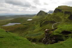 trotternish skye Шотландии зиги острова Стоковая Фотография RF