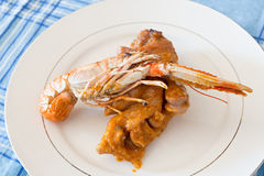 Trotters with Nephrops norvegicus Stock Image