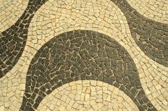 Trottoar av Rio de Janeiro Arkivbild