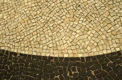 Trottoar av Rio de Janeiro Arkivfoton