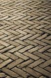 trottoar för blockherringbonemodell Arkivfoto