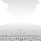 Trottoar för konkret kvarter Arkivbild