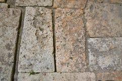 Trottoar från sandsten Arkivfoton