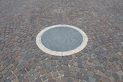 Trottoarcirkel Royaltyfri Fotografi