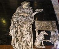 Trottoaren av den Siena domkyrkan, Siena, Italien Arkivfoto