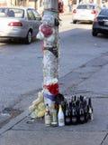 Trottoarminnesmärke på den Greenmount aven i Baltimore royaltyfria foton